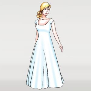 Empire wedding dress silhouettes