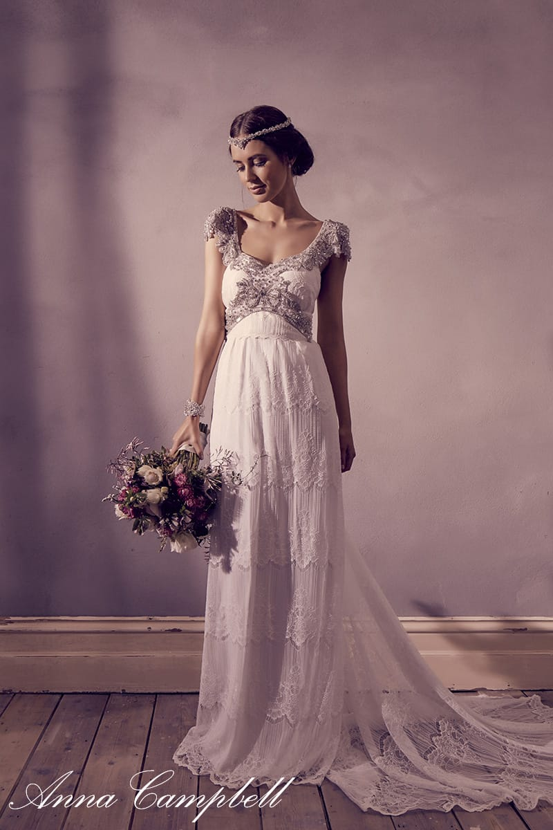 Anna campbell new collection sell my wedding dress for Sell wedding dress online