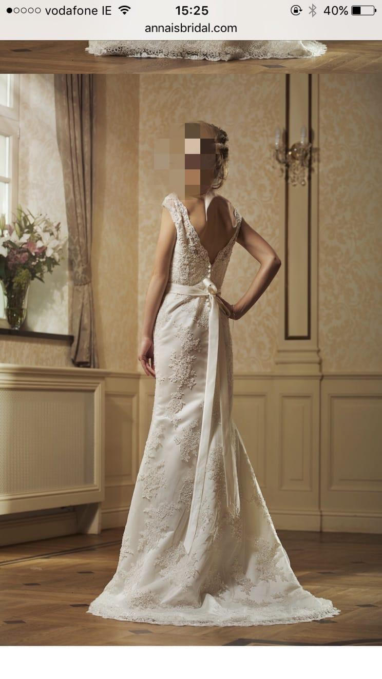 New annais bridal wedding dress unworn sell my wedding for Where to sell a wedding dress
