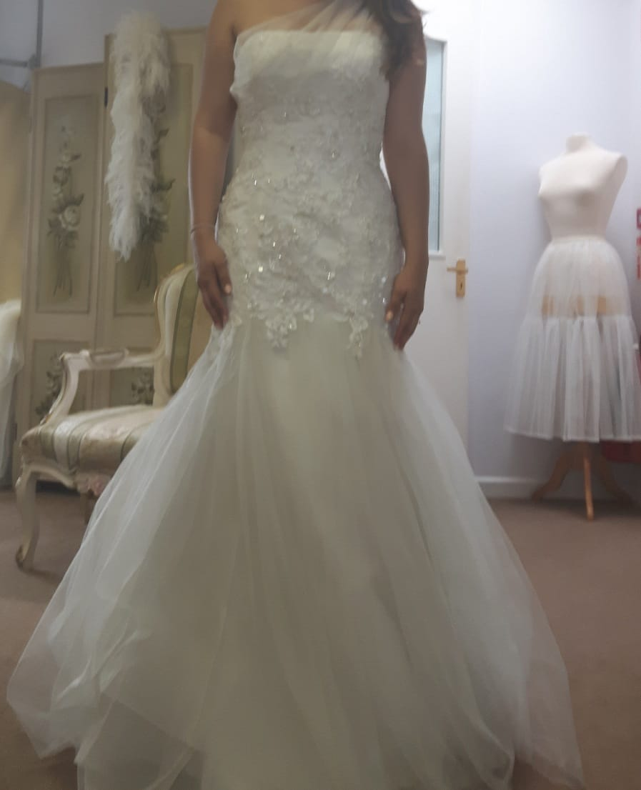 Brand new benjamin roberts wedding dress sell my wedding for Designer brand wedding dresses