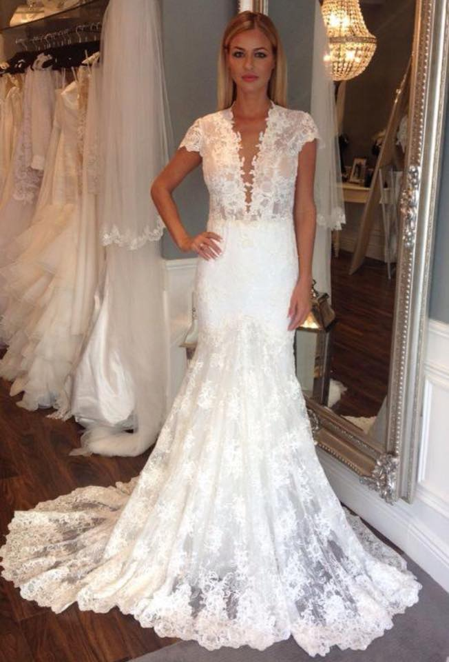 Ldk berta bridal style backless mermaid full lace gown for Buy designer wedding dresses online