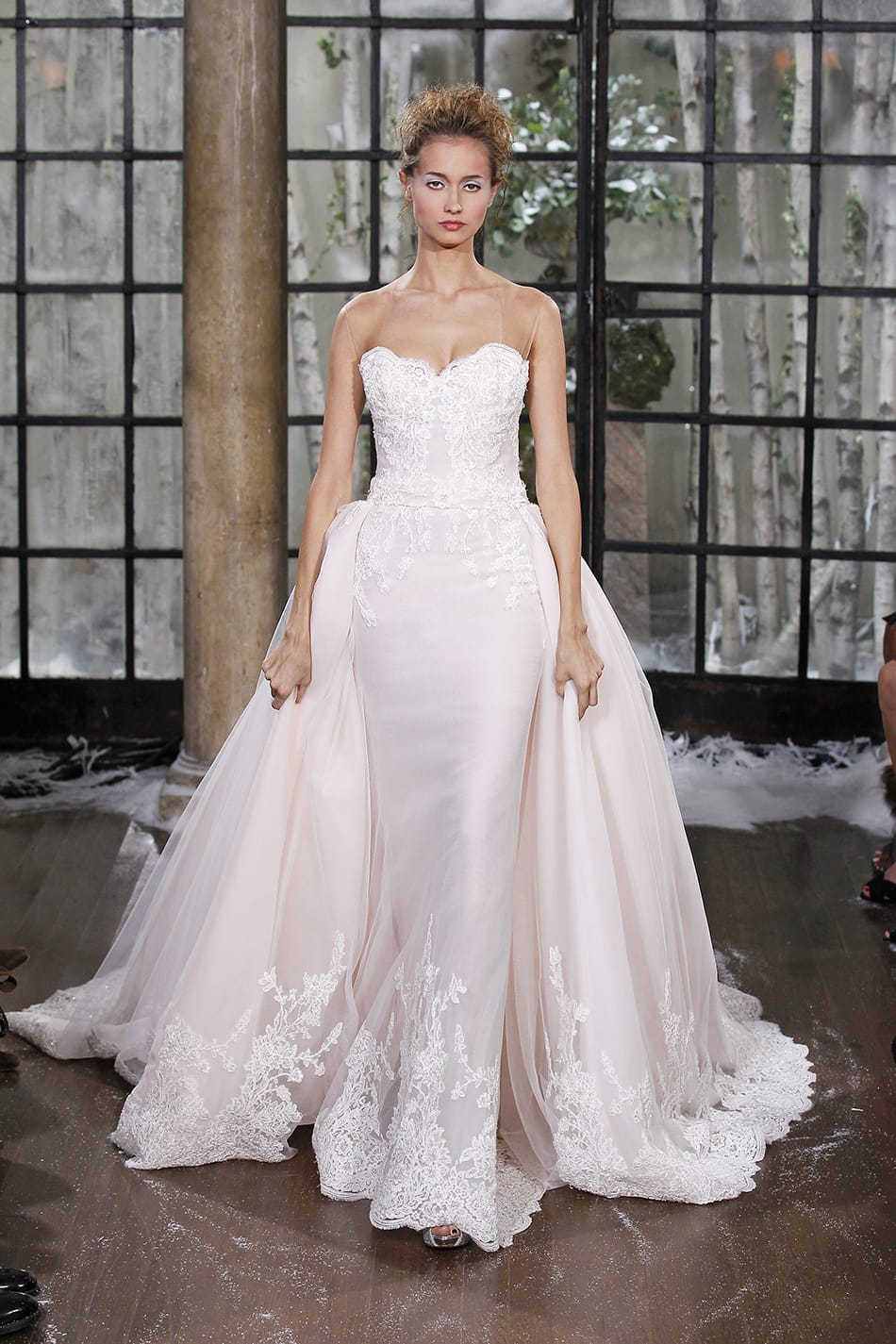 Ines Di Santo dress with detachable over skirt - Sell My Wedding ...