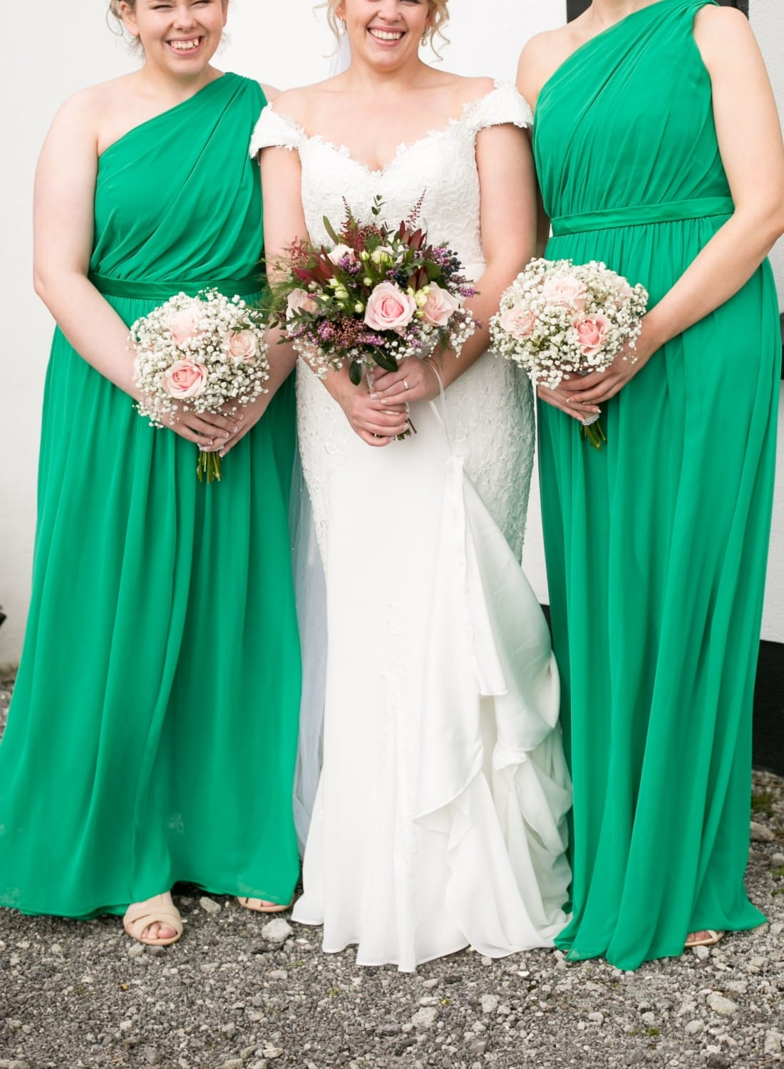 2 shamrock green bridesmaid dresses sell my wedding for Sell wedding dress online