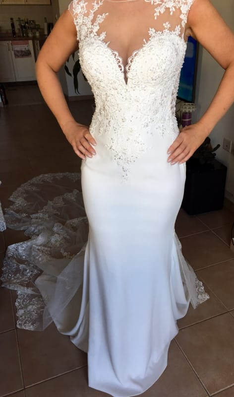 Berta Inspired Custom Made Wedding Gown (New Without Tags)