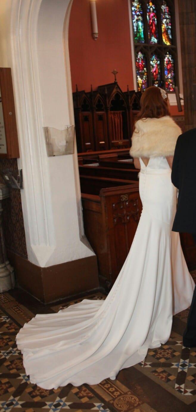 Essense of australia vintage inspired silk crepe wedding for Sell vintage wedding dress