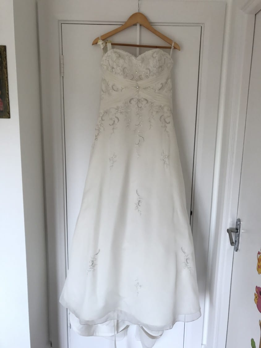 Mori Lee slim A line wedding dress