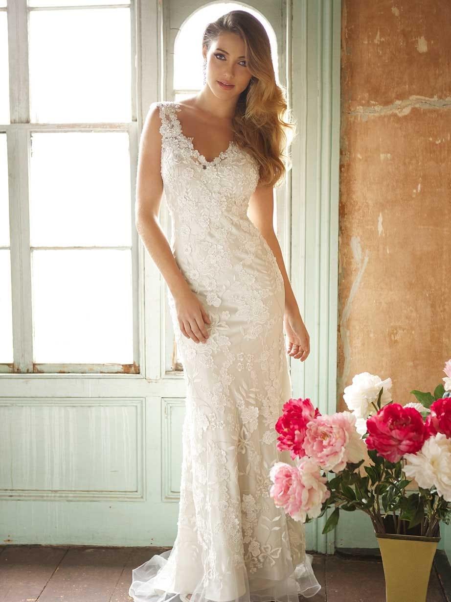 Stunning Allure Bridals Boho Vintage Chic Dress - Sell My Wedding ...