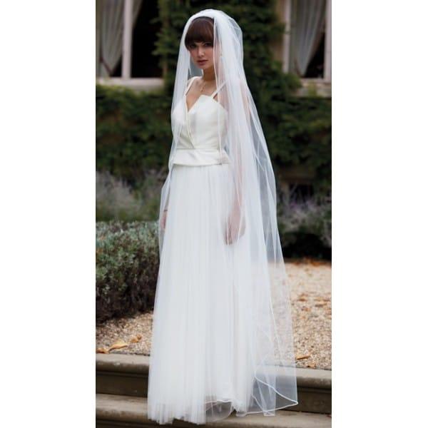 Wedding Dresses In Zambia : Joyce jackson zambia single tier full length veil with