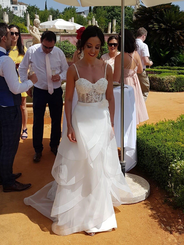 Paloma Blanca 4713 two piece dress