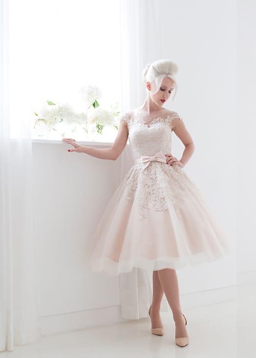 "House of Mooshki ""Poppy"" tea length wedding dress"