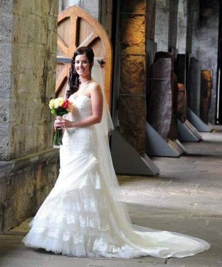 Pronovias Madeira ivory wedding dress