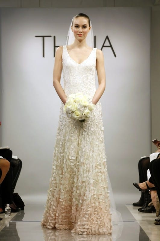 Theia couture designer bridal gown sell my wedding dress for Sell wedding dress online