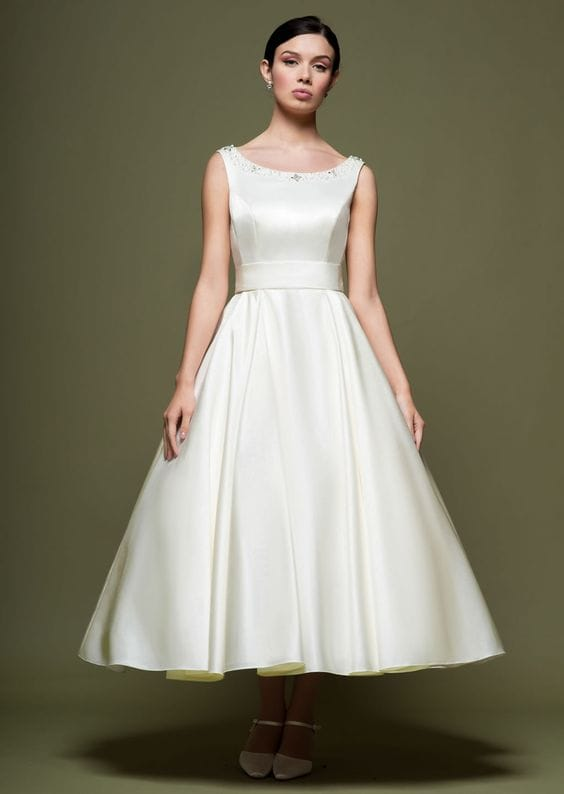 Lou Lou A line tea length wedding dress