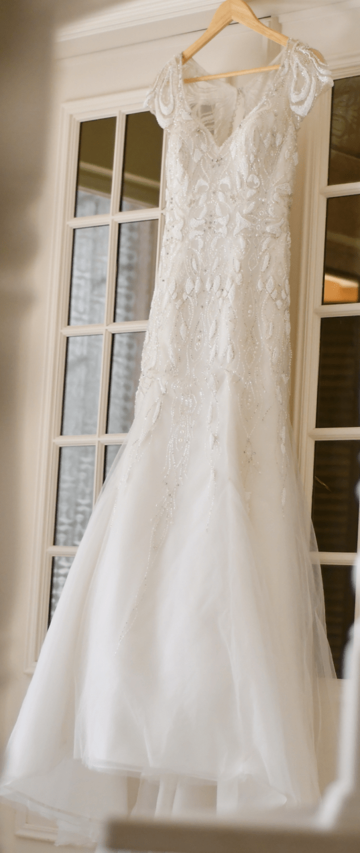 Justin Alexander 8846 Glamorous Elegant Pearl Embellished