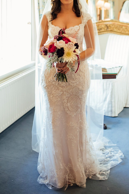 Gemy Maalouf lace & beaded designer dress