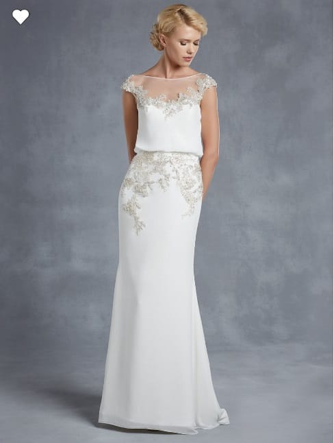 Beautiful Enzoani 'Harlem' wedding dress from the Blue Collection