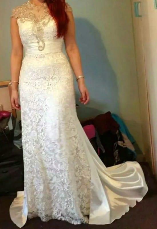 Diversity design unique vintage lace wedding dress for Sell vintage wedding dress