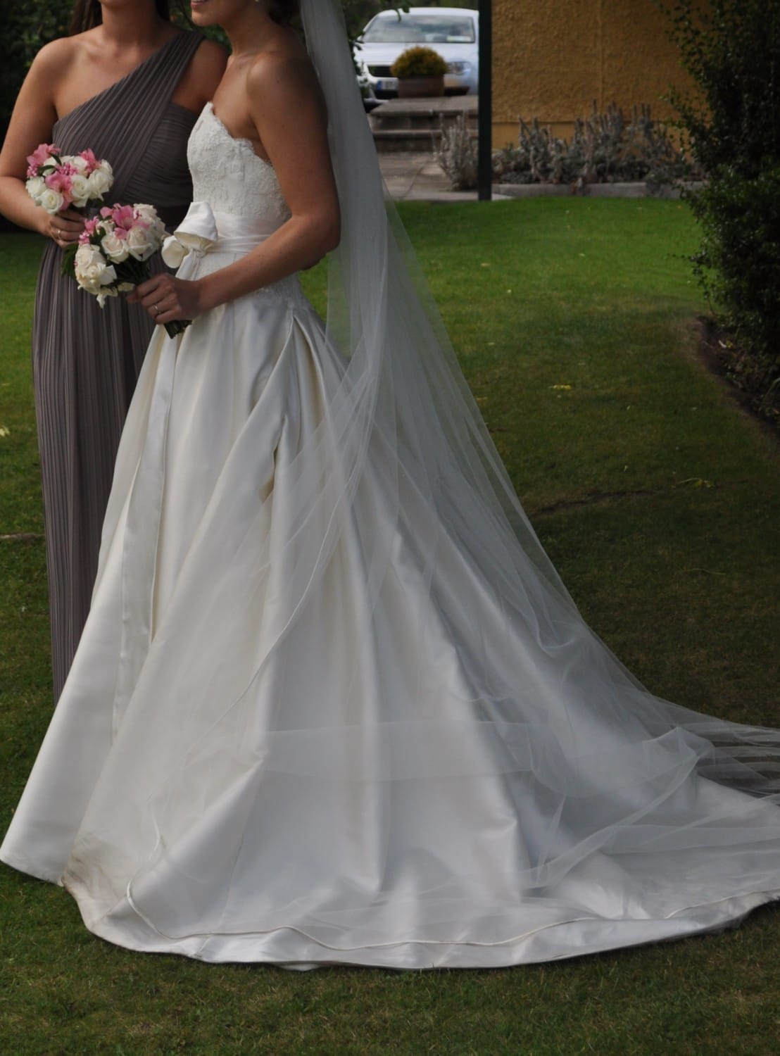 Stunning stephanie allin strapless low back sell my for Sell wedding dress online