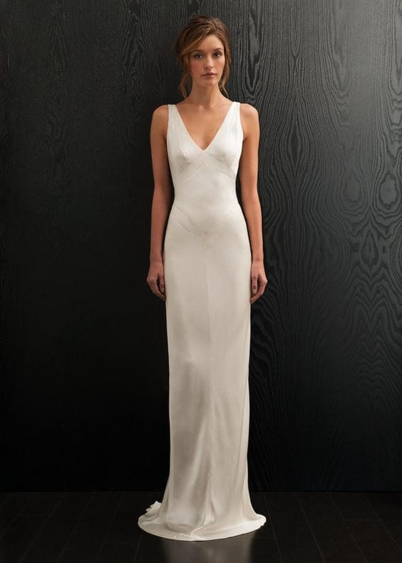Beautiful silk Amanda Wakeley 'Adette' wedding dress