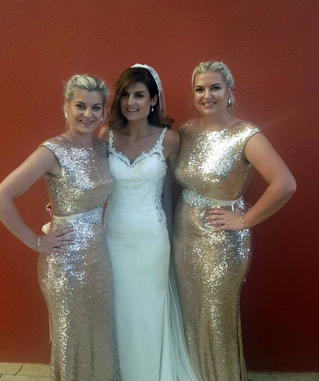 Cari S Closet Rose Gold Sequin Gown Sell My Wedding