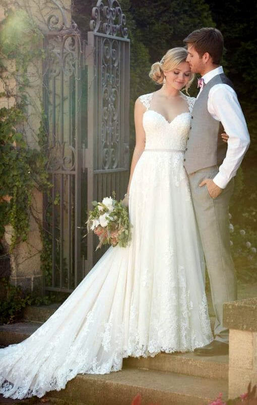 Essense Of Australia A Line Wedding Gown Style D1999