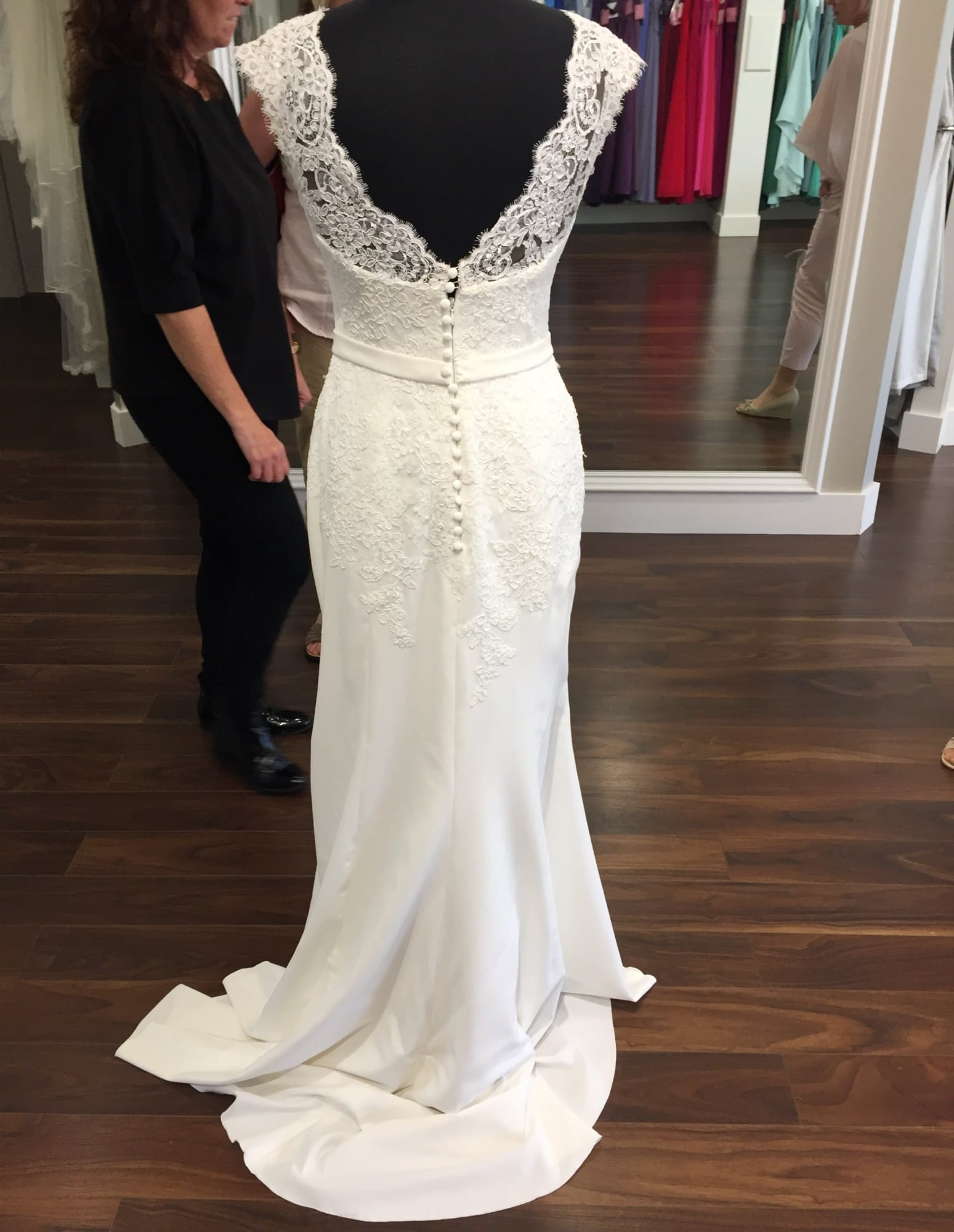 Pronovias White One Yuriana Classic Elegant Gown Sell My