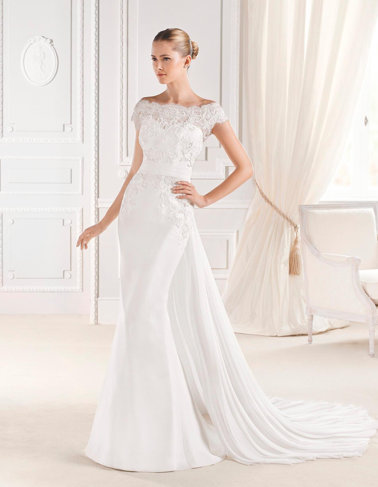 La Sposa beaded Elures wedding dress with detachable train
