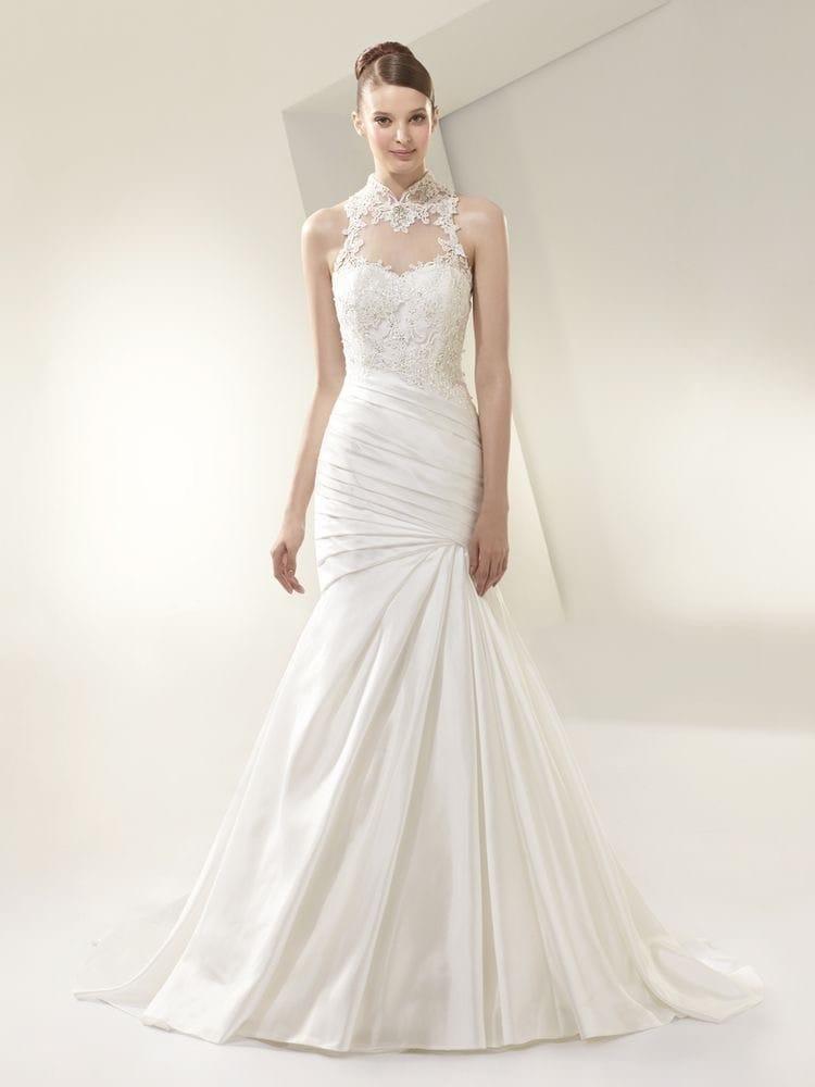 Enzoani BT14-16 High neck fishtail dress