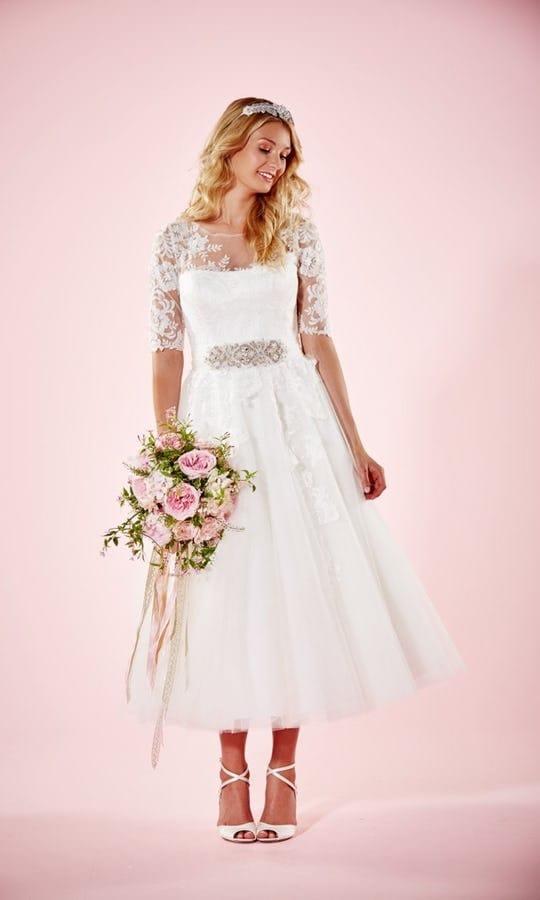 Charlotte Balbier Marie Tea Length Wedding Dress