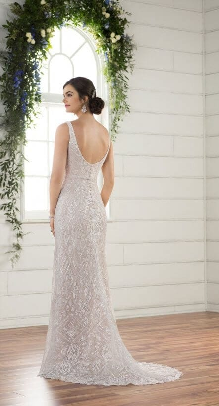 Essense Of Australia D2317 Embellished Bridal Gown Boho Style C