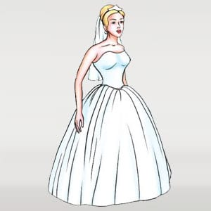 Ballgown wedding dress silhouettes