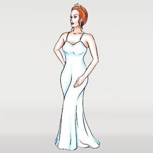 Sheath wedding dress silhouette