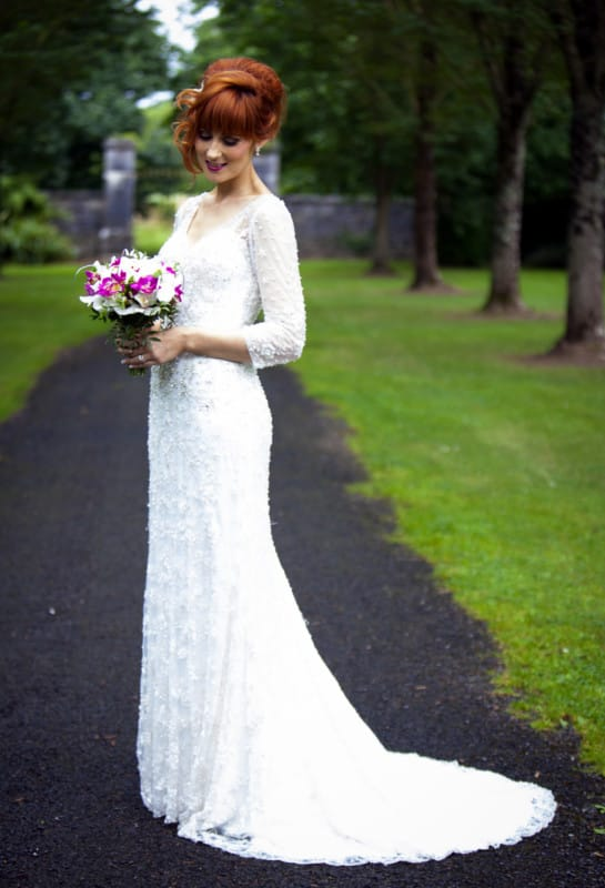 Stunning Ornate Vintage Style Wedding Dress