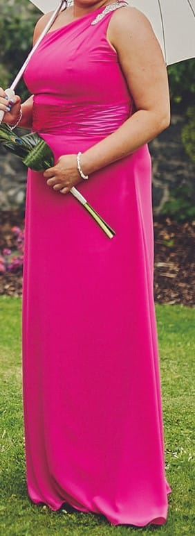 Cerise Pink bridesmaid dresses