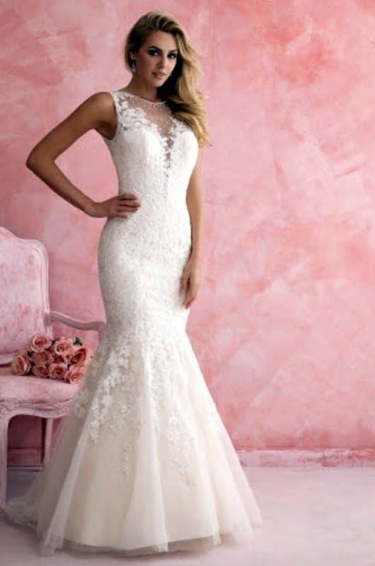 Allure Bridal beautifully fitted mermaid style gown