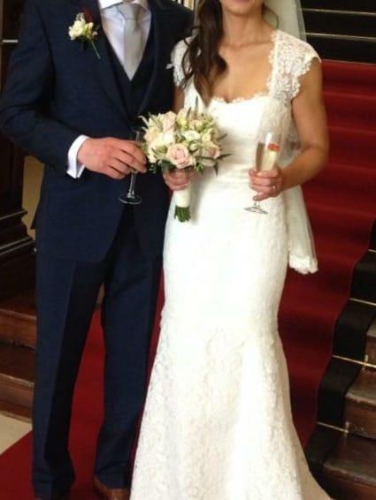 Mikaella stunning ivory wedding dress