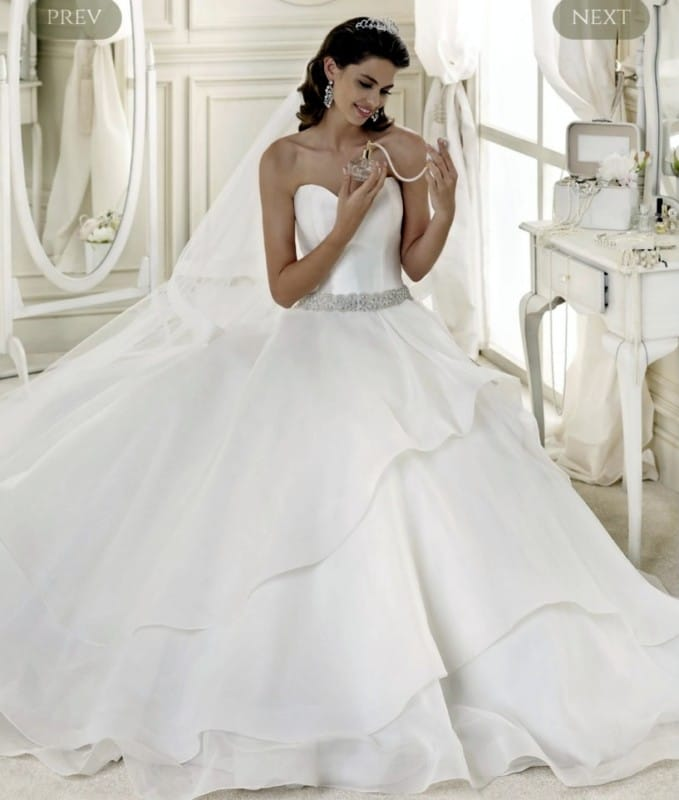 Nicole Spose princess style wedding gown
