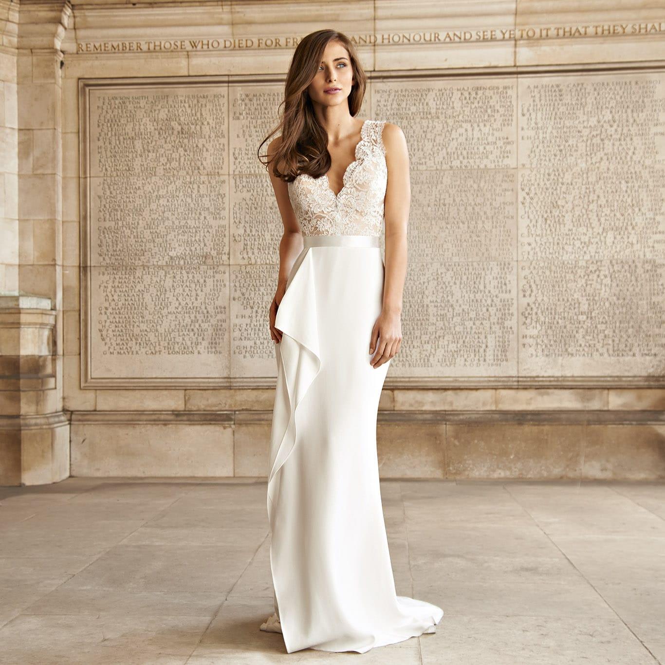 Suzanne Neville Scarlet wedding dress