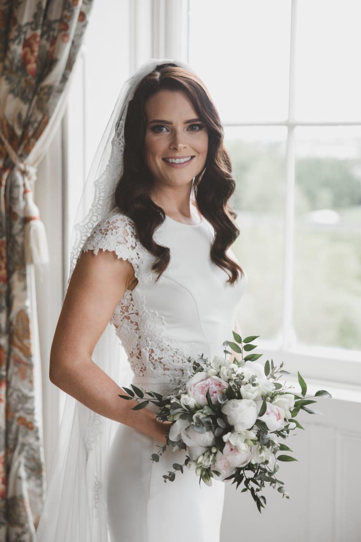Mikaella 2083 crepe wedding gown