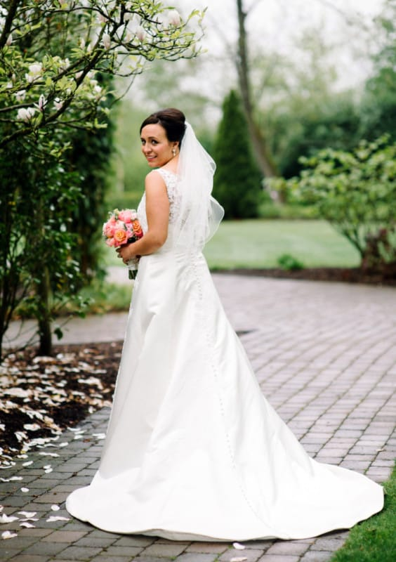 Ellis 11358 elegant lace wedding dress