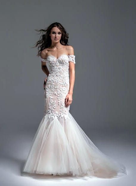Laurelle Fabia unique wedding gown