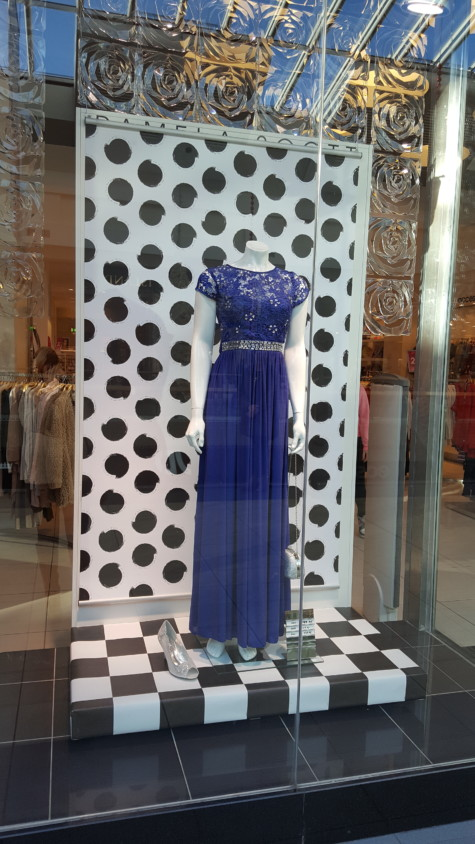 4 x Dessy navy bridesmaid dresses