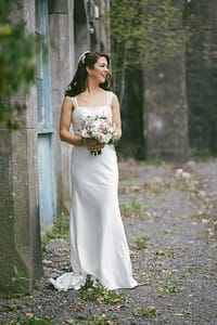 Charlotte Balbier Harlow satin wedding dress