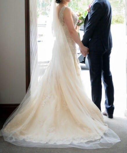 Backless Gown & Veil - Sell My Wedding Dress Online
