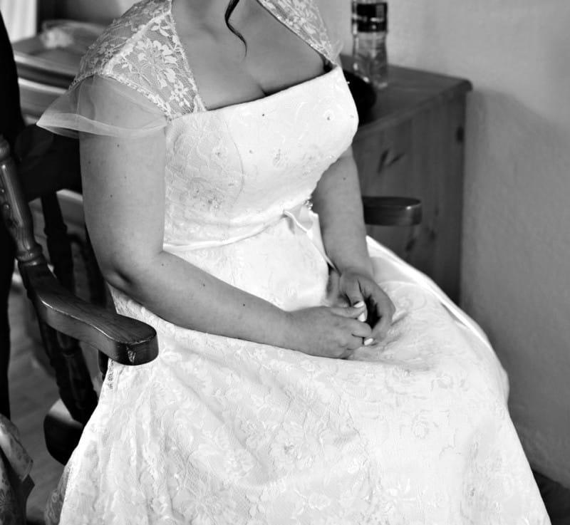 Vintage Wedding Dresses Dublin: Charlotte Balbier 'Marilyn' 1950's Style (3/4 Length) Lace