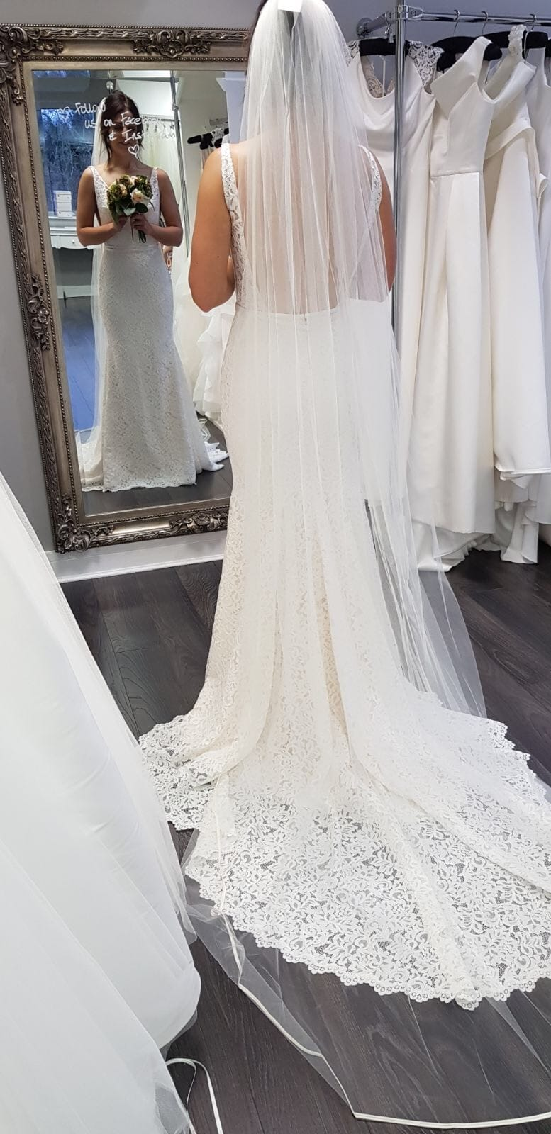 Mikaella 2154 Low Back Fitted Lace Dress Sell My Wedding