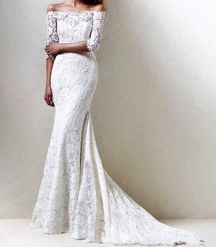 Pronovias Dracane Lace wedding dress