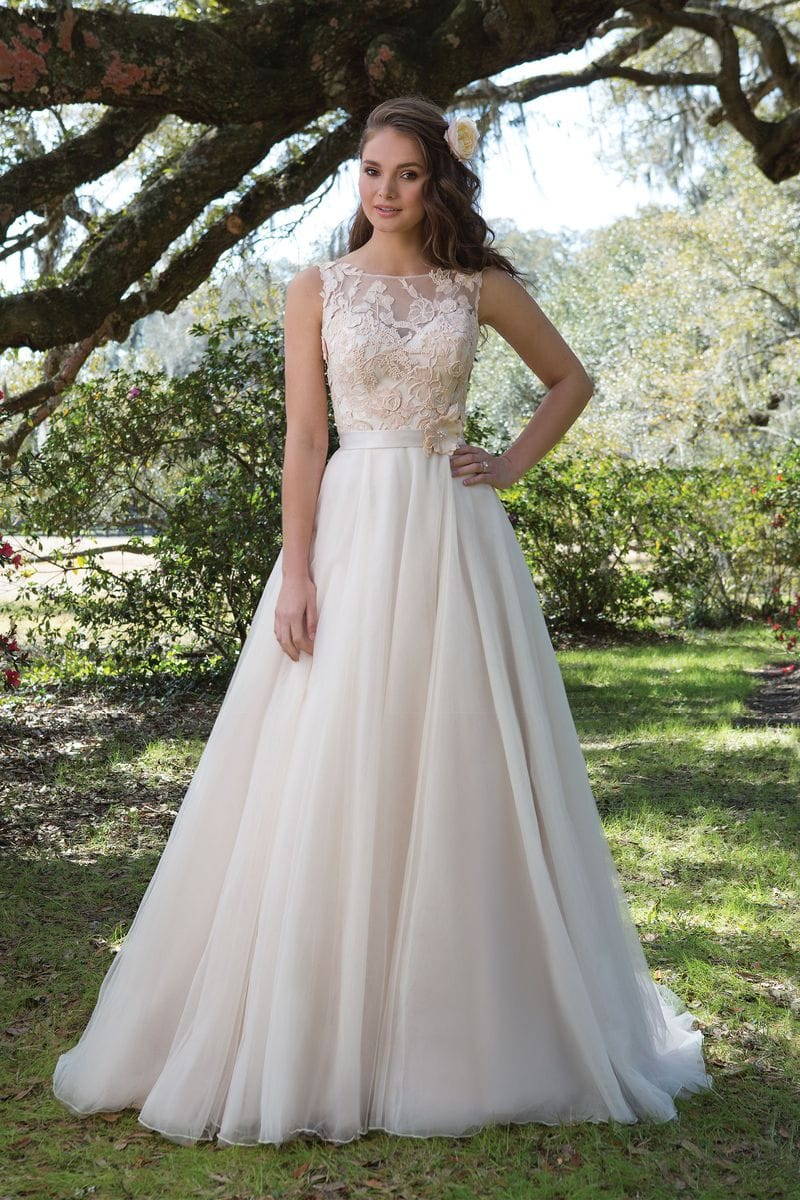 Justin Alexander 6165 Embroidered lace ballgown