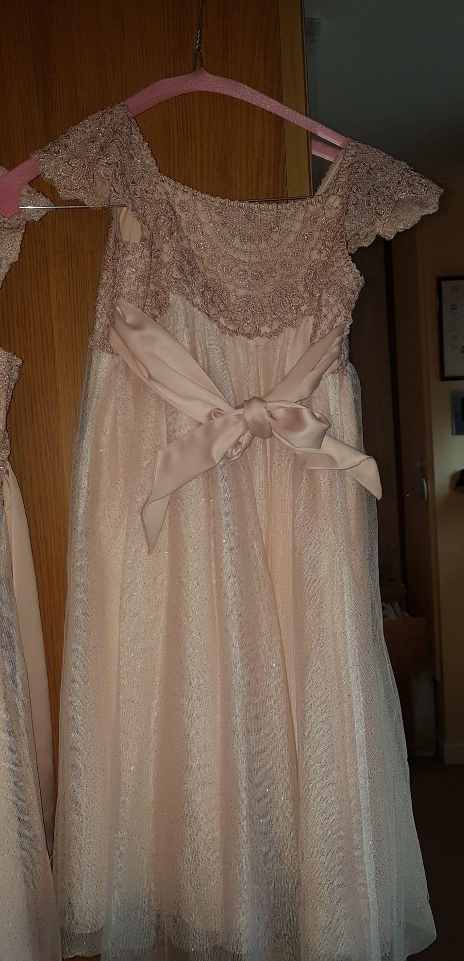 06a35b2c3 Monsoon Gold Flower Girl Dresses