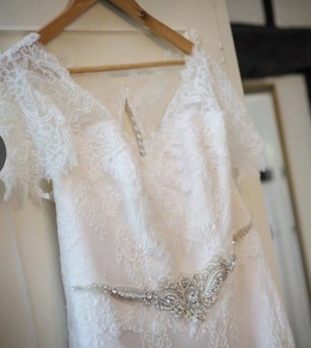 White Leaf Bridal Bespoke Vintage Italian Lace Gown